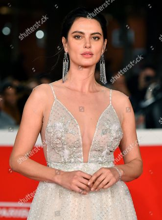 Stock Image of Catrinel Marlon arrives for the screening of the movie 'Motherless Brooklyn' at the 14th annual Rome Film Festival, in Rome, Italy, 17 October 2019. The film festival runs from 17 to 27 October.