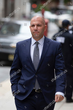 David Correia arrives at federal court, in New York. Correia and Andrey Kukushkin were set to be arraigned Thursday on charges they conspired with associates of Rudy Giuliani to make illegal campaign contributions