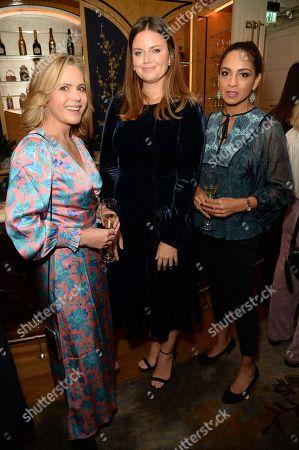 Liz Earle, Natasha Rufus Isaacs and Parosha Chandran