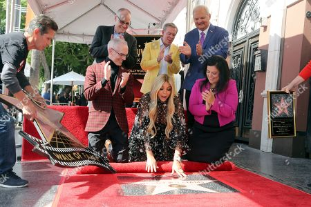 Mitch O'Farrell, Jack Abernethy, Wendy Williams, Elvis Duran, Jeff Zarrinnam, Rana Ghabdan unveils a star during a ceremony honoring Wendy Williams with a Star on the Hollywood Walk of Fame, in Los Angeles