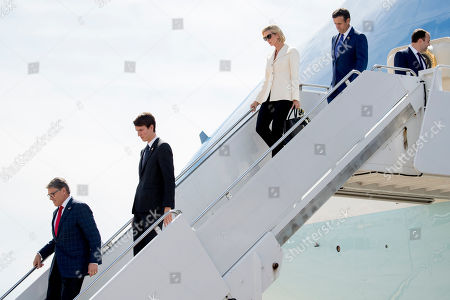 Ivanka Trump, Alexandre Arnault, Rick Perry, John Ratcliffe, Lance Gooden. From left, Energy Secretary Rick Perry, Alexandre Arnault, the son of Bernard Arnault, chief executive of LVMH, Ivanka Trump, the daughter of President Donald Trump, Rep. John Ratcliffe, R-Texas, and Rep. Lance Gooden, R-Texas, step from Air Force One as they arrive with President Donald Trump at Naval Air Station Joint Reserve Base in Fort Worth, Texas