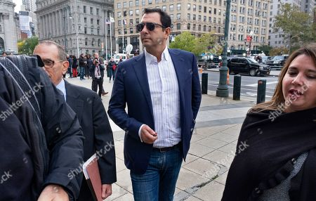 Stock Picture of Andrey Kukushkin leaves federal court, in New York. Kukushkin and David Correia pleaded not guilty Thursday to conspiring with associates of Rudy Giuliani to make illegal campaign contributions. They are among four men charged with using straw donors to make illegal contributions to politicians they thought could help their political and business interests