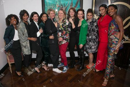 Stock Picture of Ayesha Antoine (Ayesha), Thusitha Jayasundera (Thusitha), Jemima Rooper (Jemima), Ashna Rabheru (Ashna), Jackie Clune (Jackie), Lucy Edkins (Lucy), Joanna Horton (Joanna), Kate O'Flynn (Kate), Zainab Hasan (Zainab), Shona Babayemi (Shona) and Sophia Brown (Sophia)