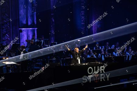 Dutch dj Armin van Buuren and singer Susana accompanied by the Metropole Orchestra , performs during the two-day event 'Our Story - Celebrating 15 Years of Tomorrowland' in the Ziggo Dome in Amsterdam, The Netherlands, 17 October 2019.