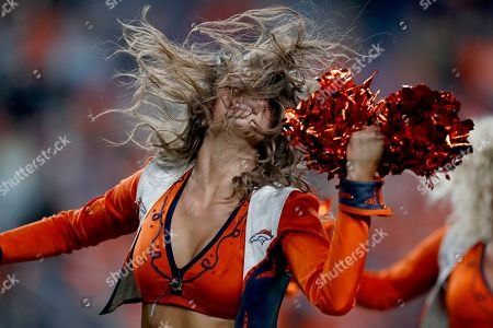 The Denver Broncos cheerleaders during the second half of an NFL football game against the Kansas City Chiefs, in Denver