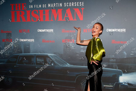 Stock Image of US actress Lala Kent poses during a photocall for the French premiere of the film 'The Irishman' at the Cinematheque Francaise in Paris, France