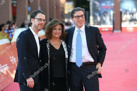 Stock Picture of Ethan Coen, Laura Della Colli and Antonio Monda