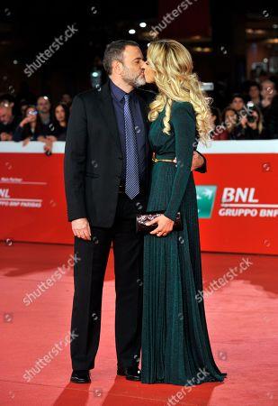 Stock Picture of Fausto Brizzi and Claudia Zanella