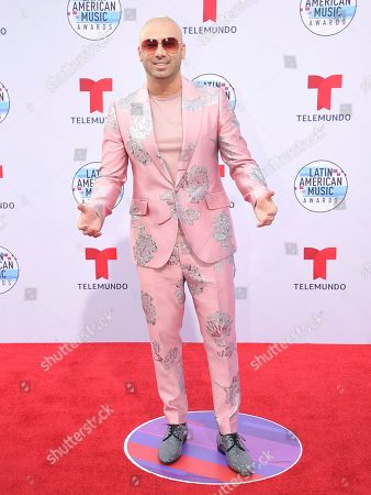 Juan Luis Morera Luna arrives at the Latin American Music Awards, at the Dolby Theatre in Los Angeles
