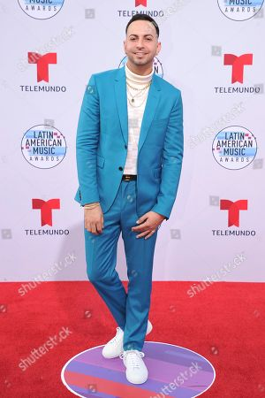 Justin Quiles arrives at the Latin American Music Awards, at the Dolby Theatre in Los Angeles