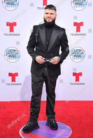 Farruko arrives at the Latin American Music Awards, at the Dolby Theatre in Los Angeles