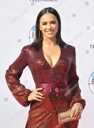 Stock Image of Ana Jurka arrives at the Latin American Music Awards, at the Dolby Theatre in Los Angeles