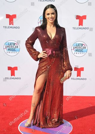 Stock Photo of Ana Jurka arrives at the Latin American Music Awards, at the Dolby Theatre in Los Angeles