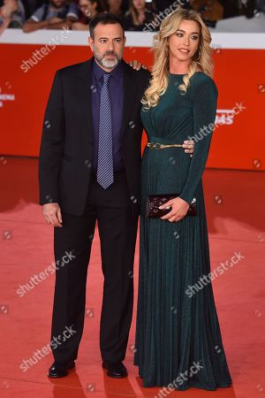 Stock Photo of Fausto Brizzi and Silvia Salis