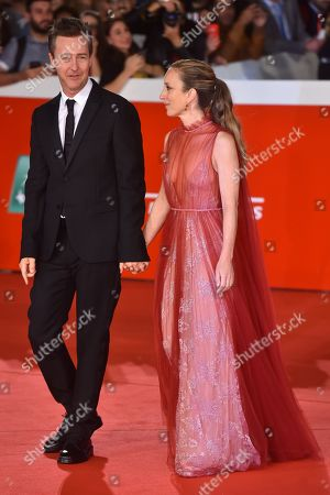 Stock Picture of Edward Norton and Shauna Robertson