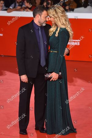 Stock Picture of Fausto Brizzi and Silvia Salis