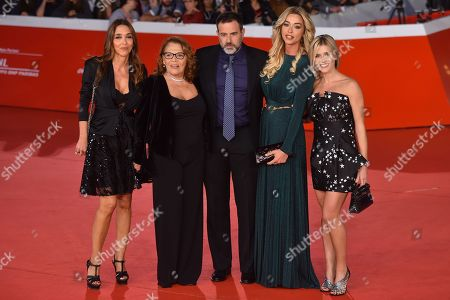 Stock Image of Giorgia Giacobetti, Valeria Fabrizi, Fausto Brizzi, Silvia Salis and Lorena Cacciatore