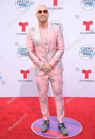 Juan Luis Morera Luna. Winsin arrives at the Latin American Music Awards, at the Dolby Theatre in Los Angeles
