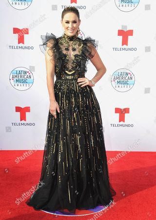 Stock Image of Jacqueline Bracamontes arrives at the Latin American Music Awards, at the Dolby Theatre in Los Angeles