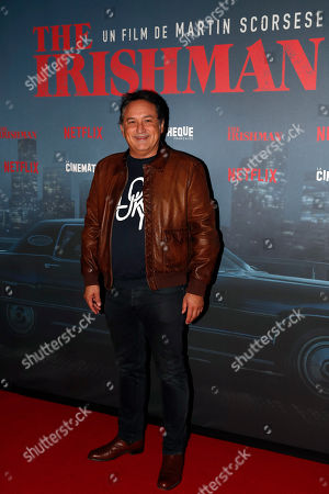 French director Thierry Klifa poses during a photocall for the French premiere of the film 'The Irishman' at the Cinematheque Francaise in Paris, France