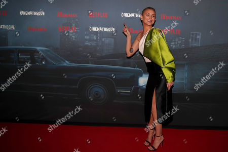 US actress Lala Kent poses during a photocall for the French premiere of the film 'The Irishman' at the Cinematheque Francaise in Paris, France
