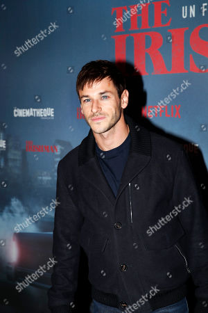 French actor Gaspard Ulliel poses during a photocall for the French premiere of the film 'The Irishman' at the Cinematheque Francaise in Paris, France