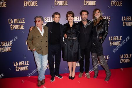 Stock Picture of Daniel Auteuil, Guillaume Canet, Fanny Ardant, Nicolas Bedos and Doria Tillier