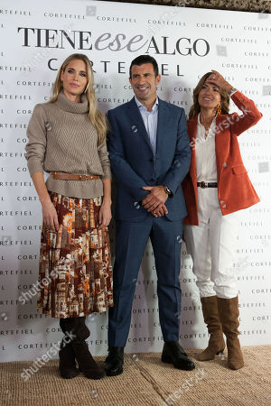 Stock Photo of Helen Svedin and Luis Figo