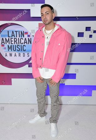 Justin Quiles poses backstage at the Latin American Music Awards, at the Dolby Theatre in Los Angeles