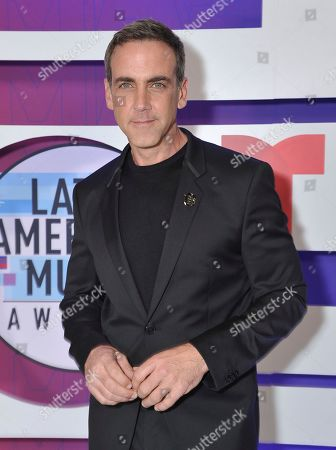 Stock Photo of Carlos Ponce poses backstage at the Latin American Music Awards, at the Dolby Theatre in Los Angeles