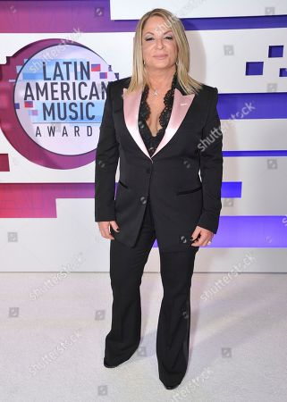 Stock Picture of Ana Maria Polo poses backstage at the Latin American Music Awards, at the Dolby Theatre in Los Angeles