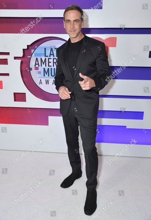 Stock Image of Carlos Ponce poses backstage at the Latin American Music Awards, at the Dolby Theatre in Los Angeles