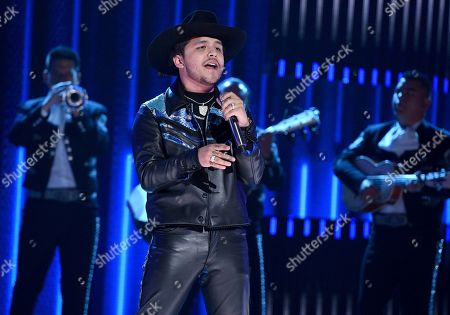 Christian Nodal performs at the Latin American Music Awards, at the Dolby Theatre in Los Angeles