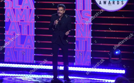 Host Eugenio Derbez speaks at the Latin American Music Awards, at the Dolby Theatre in Los Angeles