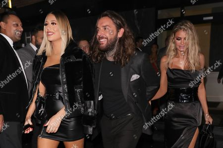 Chloe Sims, Demi Sims and Peter Wicks