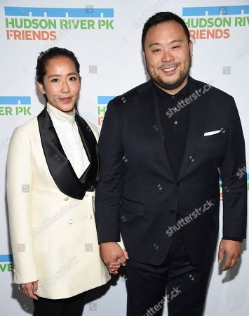 Grace Seo Chang, David Chang. Honoree chef David Chang, right, and wife Grace Seo Chang attend the annual Hudson River Park Gala at Cipriani South Street, in New York