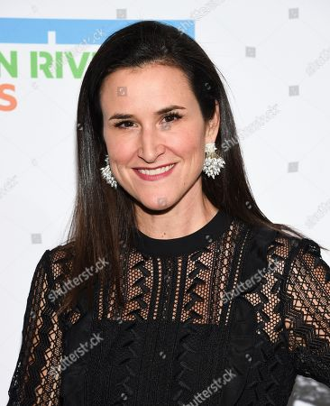 Auctioneer Lydia Fenet attends the annual Hudson River Park Gala at Cipriani South Street, in New York