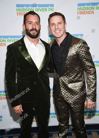 Josh Wood, Jake Shears. Singer Jake Shears, right, and Josh Wood attend the annual Hudson River Park Gala at Cipriani South Street, in New York