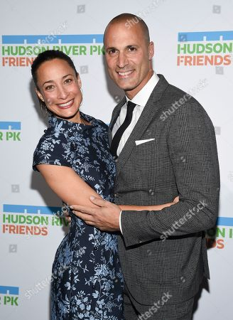 Stock Picture of Nigel Barker, Cristen Barker. Photographer Nigel Barker, right, and wife Cristen Barker attend the annual Hudson River Park Gala at Cipriani South Street, in New York