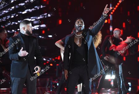 Farruko, Jason DeRulo. Farruko, left, and Jason DeRulo perform at the Latin American Music Awards, at the Dolby Theatre in Los Angeles