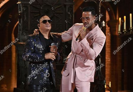 Kiko Rodriguez, Romeo Santos. Kiko Rodriguez, left, and Romeo Santos perform at the Latin American Music Awards, at the Dolby Theatre in Los Angeles