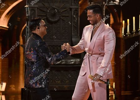 Stock Photo of Kiko Rodriguez, Romeo Santos. Kiko Rodriguez, left, and Romeo Santos perform at the Latin American Music Awards, at the Dolby Theatre in Los Angeles