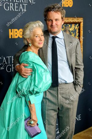 "Helen Mirren, Jason Clarke. Helen Mirren, left, and Jason Clarke attend the LA Premiere of ""Catherine the Great"" at the Hammer Museum, in Los Angeles"