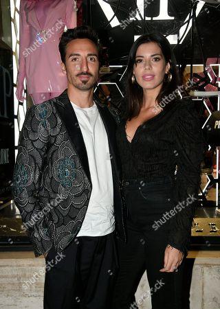 Stock Photo of Samuel Peron and Tania Bambaci