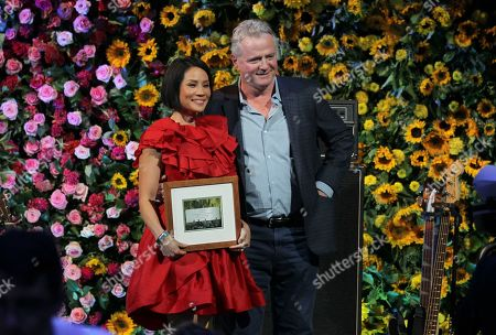Stock Picture of Lucy Liu and Aidan Quinn