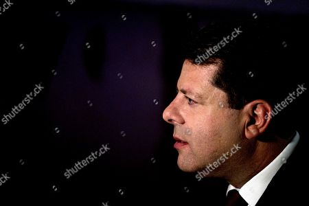 Leader of the Gibraltar Socialist Labour Party, Fabian Picardo after securing a win in the general election, in Gibraltar, Friday Oct. 18. 2019. An election for Gibraltar's 17-seat parliament took place under a cloud of uncertainty about what Brexit will bring for the speck of British territory on Spain's southern tip. In the 2016 referendum, 96% of the 34,000 residents voted not to leave the European Union