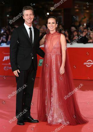 Stock Photo of The director and actor Edward Norton, Shauna Robertson