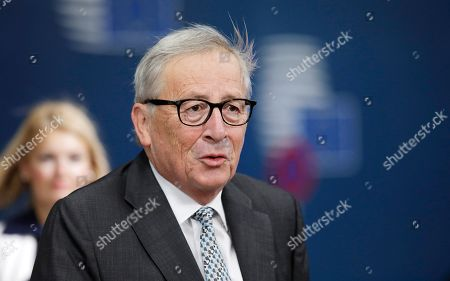 European Commission President Jean-Claude Juncker arrives at the second day of a European Summit at the European Council in Brussels, Belgium, 18 October 2019. The European Union (EU) and the British government have reached a tentative Brexit deal that still must be ratified.