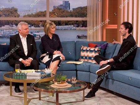 Stock Image of Eamonn Holmes, Ruth Langsford and Blake Harrison