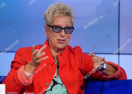 German author Doris Doerrie during an interview at the book fair Frankfurter Buchmesse 2019, in Frankfurt am Main, Germany, 18 October 2019. The 71st edition of the international Frankfurt Book Fair, described as the world's most important fair for the print and digital content business, runs from 16 to 20 October and gathers authors, writers and celebrities from all over the world. This year's Guest of Honour country is Norway.